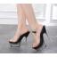 รองเท้าส้นสูงดีไซน์ส้นสวยหรูสีแดง/ดำ/ขาว ไซต์ 34-40 thumbnail 2