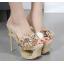 รองเท้าส้นสูงสีครีม/ดำ ไซต์ 34-40 thumbnail 5