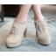 รองเท้าส้นสูงหุ้มเท้าน่ารักๆสีดำ/น้ำตาล/ครีม ไซต์ 34-43 thumbnail 2
