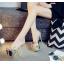 รองเท้าส้นสูงแบบสวมสีเงิน/ทอง ไซต์ 34-39 thumbnail 5