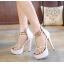 รองเท้าส้นสูง ไซต์ 35-40 สีดำ/ขาว thumbnail 4
