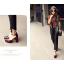 รองเท้าส้นสูงสีน้ำตาล/ดำ/ครีม/แดง ไซต์ 34-39 thumbnail 3