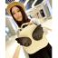 กระเป๋าเป้สะพายหลังมีปีก เวอร์ชั่นเกาหลี สีขาว ปีกสีดำ น่ารักสุด ๆ thumbnail 1