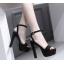 รองเท้าส้นสูงเปิดส้นสีดำ/น้ำตาล ไซต์ 34-39 thumbnail 2