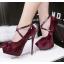 รองเท้าส้นสูง ไซต์ 34-39 สีดำ/แดง/เทา/น้ำตาล thumbnail 6