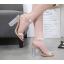 รองเท้าส้นสูงส้นแก้วสีเงิน/ทอง ไซต์ 35-39 thumbnail 6