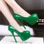 รองเท้าส้นสูง ไซต์ 34-39 สีดำ สีแดง สีชมพู สีเขียว thumbnail 6