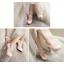 รองเท้าส้นสูงแต่งดอกไม้น่ารักๆสีชมพู/ขาว/ดำ ไซต์ 34-43 thumbnail 3