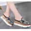 รองเท้าส้นเตารีดปลายแหลมแบบสวมติดคริสตัลเม็ดเล็กสุดหรู ไซต์ 34-39 thumbnail 3