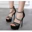 รองเท้าส้นสูงส้นเข็มสีดำ ไซต์ 34-40 thumbnail 2