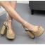 รองเท้าส้นสูง ไซต์ 34-39 สีทอง/เงิน thumbnail 3