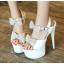 รองเท้าส้นสูงสีขาว/ดำ/แดง ไซต์ 34-39 thumbnail 2