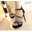 รองเท้าส้นสูงสีเทา/ดำ ไซต์ 34-38 thumbnail 3