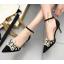 รองเท้าส้นสูงปลายแหลมแต่งมุขสวยหรูใส่ออกงานได้เลย สีครีม/ดำ ไซต์ 34-38 thumbnail 2