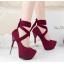 รองเท้าส้นสูง ไซต์ 34-39 สีดำ/เทา/ม่วง/เขียวขี้ม้า thumbnail 4