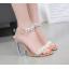 รองเท้าส้นสูงส้นแก้วสีเงิน/ทอง ไซต์ 35-39 thumbnail 7