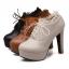 รองเท้าส้นสูงหุ้มเท้าน่ารักๆสีดำ/น้ำตาล/ครีม ไซต์ 34-43 thumbnail 5