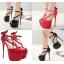 รองเท้าส้นสูงส้นเข็มสีแดง/ดำ ไซต์ 34-40 thumbnail 1