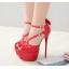 รองเท้าส้นสูงส้นเข็มสีแดง/ดำ ไซต์ 34-40 thumbnail 3