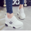รองเท้าผ้าใบเสริมส้น ไซต์ 35-39 สีขาว/ดำ thumbnail 4