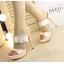 รองเท้าส้นสูงแบบสวยหรูสีดำ/ครีม ไซต์ 34-38 thumbnail 6