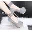 รองเท้าส้นสูงเปิดหน้าสีน้ำเงิน/แดง/เทา/เงิน (สามารถถอดสายรัดข้อออกได้) thumbnail 5