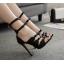 รองเท้าส้นสูงดีไซน์โบว์เล็กๆติดสายสีดำ ไซต์ 35-40 thumbnail 3