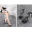 รองเท้าส้นสูงดีไซน์ส้นสวยหรูสีแดง/ดำ/ขาว ไซต์ 34-40 thumbnail 3