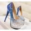 รองเท้าส้นสูงคัดชูเกร็ดเพชรสีแดง/ม่วง/น้ำเงิน ไซต์ 34-39 thumbnail 6