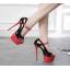 รองเท้าส้นสูงส้นเข็มสีดำขแดง ไซต์ 34-40 thumbnail 2