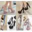 รองเท้าส้นสูงคัดชูสีชมพูนู๊ด/ดำ ไซต์ 35-39 thumbnail 1