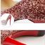 รองเท้าส้นสูงคัดชูเกร็ดเพชรสีแดง/ม่วง/น้ำเงิน ไซต์ 34-39 thumbnail 8