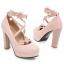 รองเท้าส้นสูงแต่งดอกไม้น่ารักๆสีชมพู/ขาว/ดำ ไซต์ 34-43 thumbnail 8