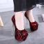 รองเท้าส้นสูง ไซต์ 34-40 สีดำ สีแดง สีผสม thumbnail 4