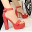 รองเท้าส้นสูง ไซต์ 34-39 สีดำ/แดง/ครีม/น้ำตาลเข้ม/น้ำตาลอ่อน/เทา thumbnail 3