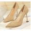 รองเท้าส้นสูงปลายแหลมผ้าลุกไม้เก็บทรงสวยเป๊ะสีดำ/ขาว/ครีม/ชมพู/ม่วง/แดง ไซต์ 34-40 thumbnail 7