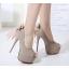 รองเท้าส้นสูง ไซต์ 34-38 สีดำ/น้ำตาล thumbnail 2