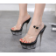รองเท้าส้นสูงดีไซน์ส้นสวยหรูสีแดง/ดำ/ขาว ไซต์ 34-40 thumbnail 4