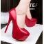 รองเท้าส้นสูง ไซต์ 34-39 สีดำ สีแดง สีชมพู สีเขียว thumbnail 4