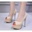 รองเท้าส้นสูงคัดชูเปิดหน้าสีนู๊ด/ดำ ไซต์ 34-39 thumbnail 2