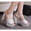 รองเท้าส้นสูงกากเพชรหรูสีทอง/เงิน/ดำ/ขาว ไซต์ 34-39 thumbnail 5