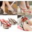รองเท้าส้นสูงแบบสวมสีแดง/ดำ ไซต์ 34-39 thumbnail 1