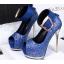 รองเท้าส้นสูงเปิดหน้าสีน้ำเงิน/แดง/เทา/เงิน (สามารถถอดสายรัดข้อออกได้) thumbnail 12