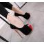 รองเท้าส้นสูงสีดำกำมะหยี่เปิดหน้าสีดำ ไซต์ 34-40 thumbnail 1