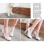 รองเท้าส้นสูงแต่งดอกไม้น่ารักๆสีชมพู/ขาว/ดำ ไซต์ 34-43 thumbnail 7
