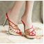 รองเท้าส้นสูงแบบสวมสีแดง/ดำ ไซต์ 34-39 thumbnail 5