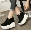 รองเท้าผ้าใบเสริมส้นสีน้ำตาล/ดำ/เขียว ไซต์ 35-39 thumbnail 6