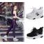 รองเท้าผ้าใบเสริมส้น ไซต์ 35-39 สีขาว/ดำ thumbnail 8