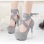 รองเท้าส้นสูง ไซต์ 34-39 สีดำ/เทา/ม่วง/เขียวขี้ม้า thumbnail 8