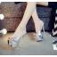 รองเท้าส้นสูงแบบสวมสีเงิน/ทอง ไซต์ 34-39 thumbnail 3